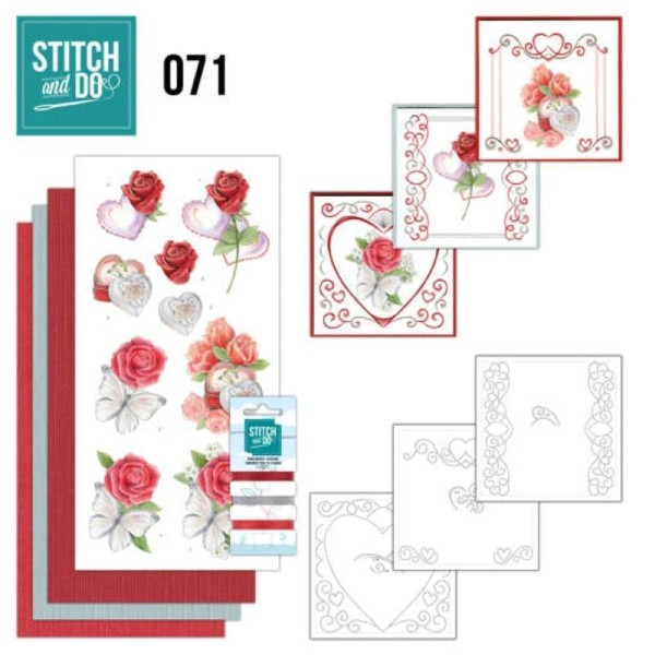 Stitch And Do 71 Kit Carte 3d Broderie Mariage