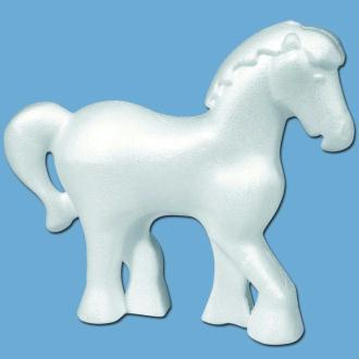 Cheval en polystyrène 12 cm