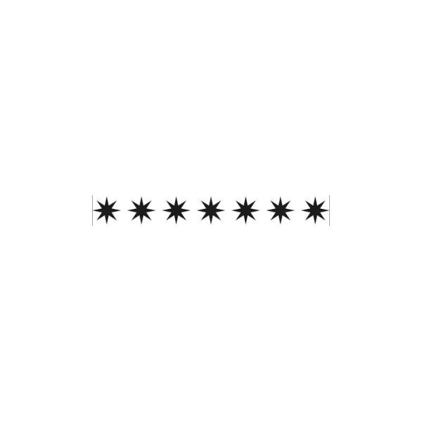 Classeur d'embossage bordure étoile 15x2 cm - Photo n°1