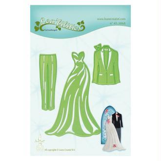 Die - leane creatif - costumes de mariage 10 x 6.5 cm