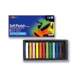 Mungyo boîte 12 pastels secs carrés - basique