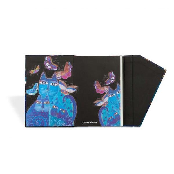 Paperblanks carnet 100x140 chats bleus et papillons ligné - Photo n°2
