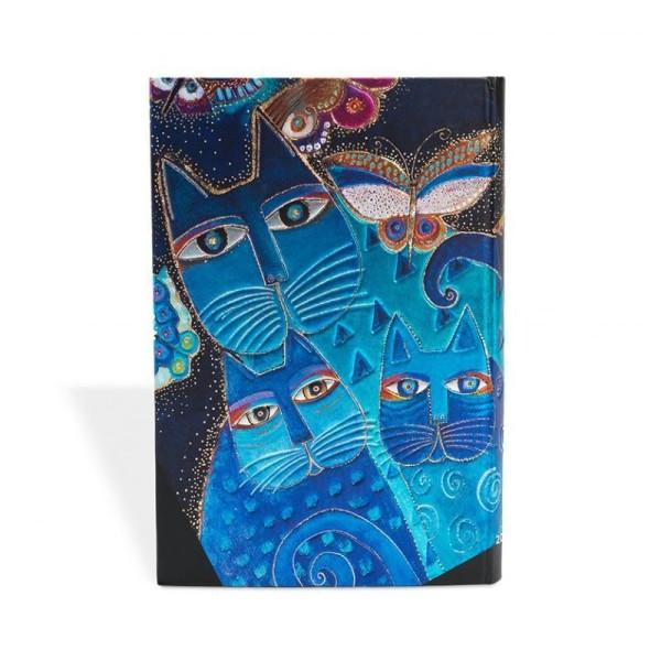 Paperblanks carnet 100x140 chats bleus et papillons ligné - Photo n°3