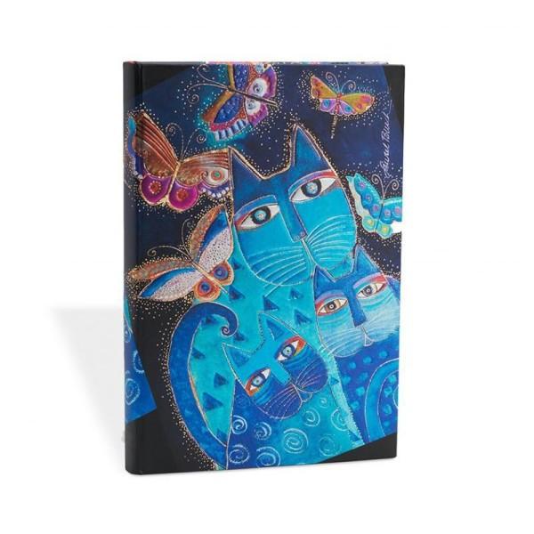 Paperblanks carnet 100x140 chats bleus et papillons ligné - Photo n°1
