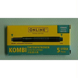 Cartouches turquoise Kombi ONLINE