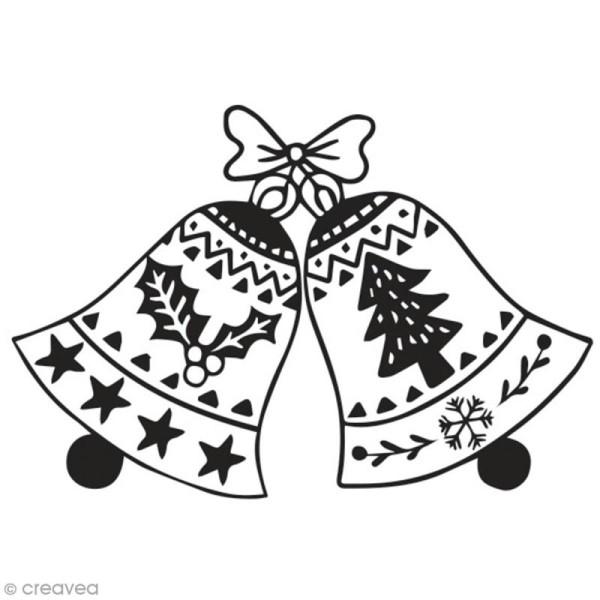 Tampon en bois Aladine - Cloches de Noël - 6 x 4 cm - Photo n°1