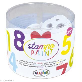 Kit de tampons Stampo Paint - Chiffres - 12 pcs