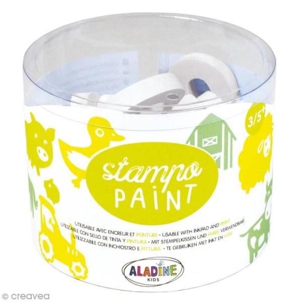 Kit de tampons Stampo Paint - Ferme - 12 pcs - Photo n°1
