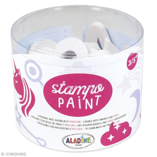 Kit de tampons Stampo Paint - Licornes - 12 pcs - Photo n°1