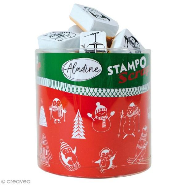 Kit de tampons Stampo Scrap - Noël - 27 pcs - Photo n°1