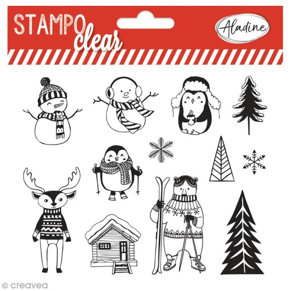 Tampon clear Aladine - Noël - 12 Stampo'clear - Photo n°1