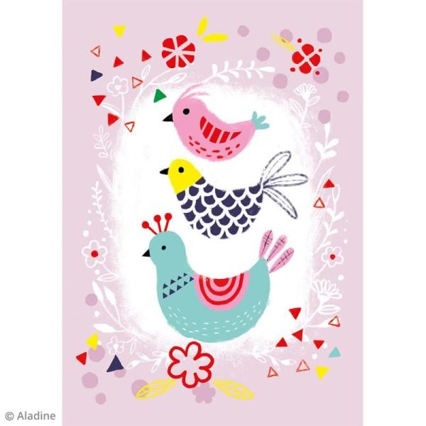 Kit tableau Colors Diamond Aladine - Oiseaux - Photo n°2