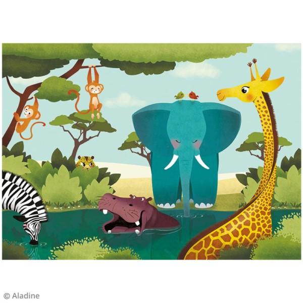 Puzzle adhésif repositionnable Vertical Puzzle Aladine - Savane - 24 pièces - Photo n°2