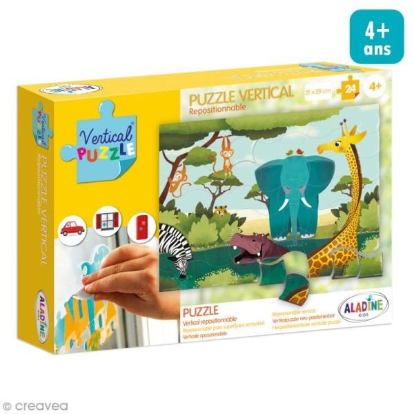 Puzzle adhésif repositionnable Vertical Puzzle Aladine - Savane - 24 pièces - Photo n°1