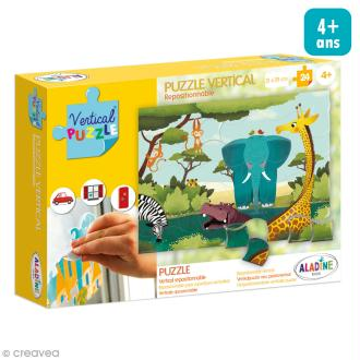 Puzzle adhésif repositionnable Vertical Puzzle Aladine - Savane - 24 pièces