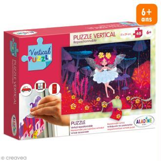 Puzzle adhésif repositionnable Vertical Puzzle Aladine - Fées - 48 pièces