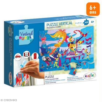 Puzzle adhésif repositionnable Vertical Puzzle Aladine - Dragon - 48 pièces