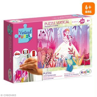 Puzzle adhésif repositionnable Vertical Puzzle Aladine - Princesse - 48 pièces