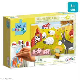 Puzzle adhésif repositionnable Vertical Puzzle Aladine - Ferme - 24 pièces