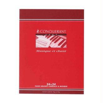 Cahier de musique et chant 17x22 cm 48 pages