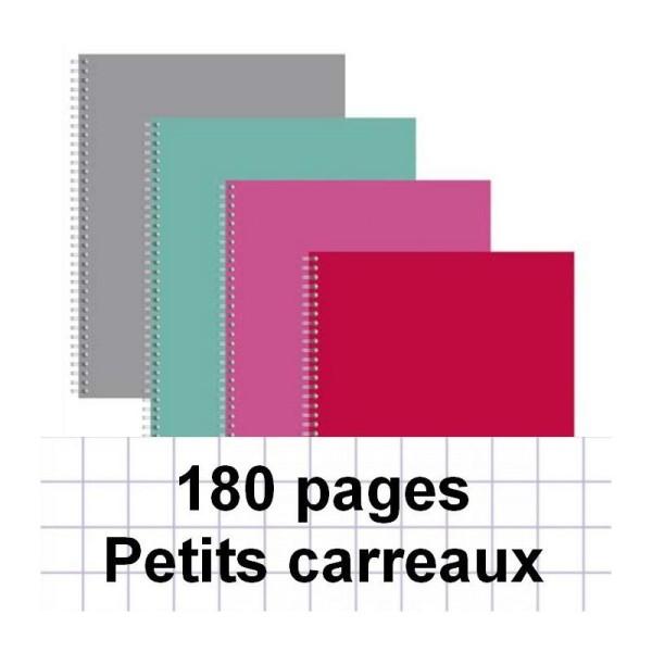 Cahier spirale A4 180P 5X5 - Photo n°1