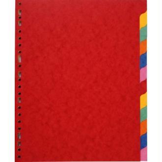 Intercalaires carte format A4 12 touches
