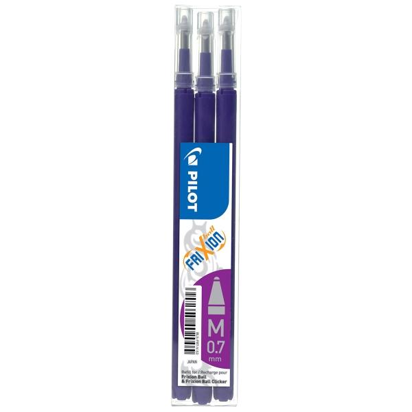 Pochette de 3 recharges roller Frixion Ball violet PILOT - Photo n°1