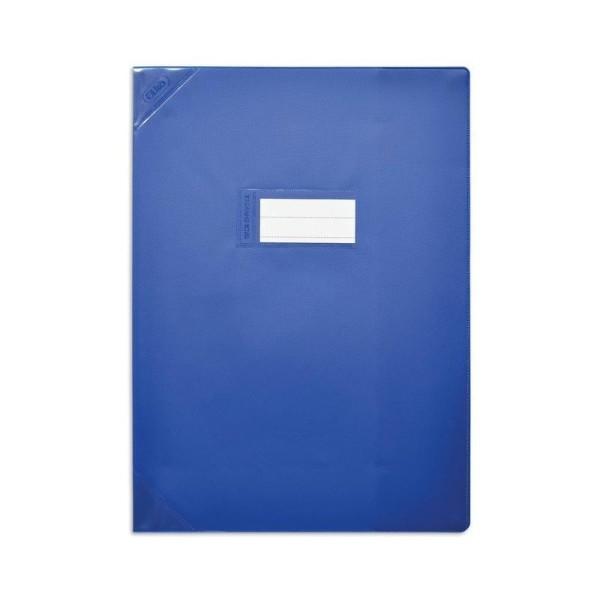 Protège-cahiers 24X32 bleu opaque CALLIGRAPHE - Photo n°1