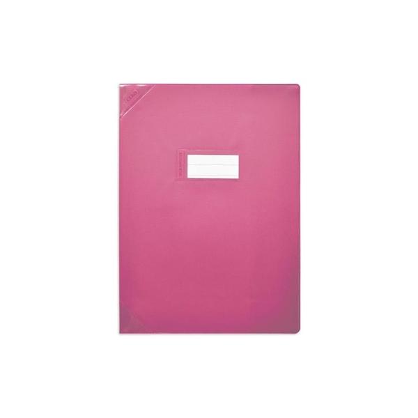 Protège-cahiers 24X32 rose opaque CALLIGRAPHE - Photo n°1