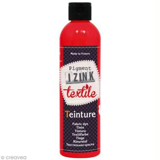 Teinture textile à froid Izink - Rouge santal - 180 ml