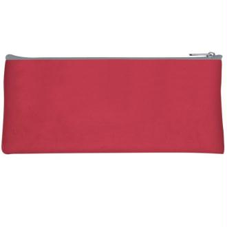 Trousse plate 1 compartiment 22cm rouge