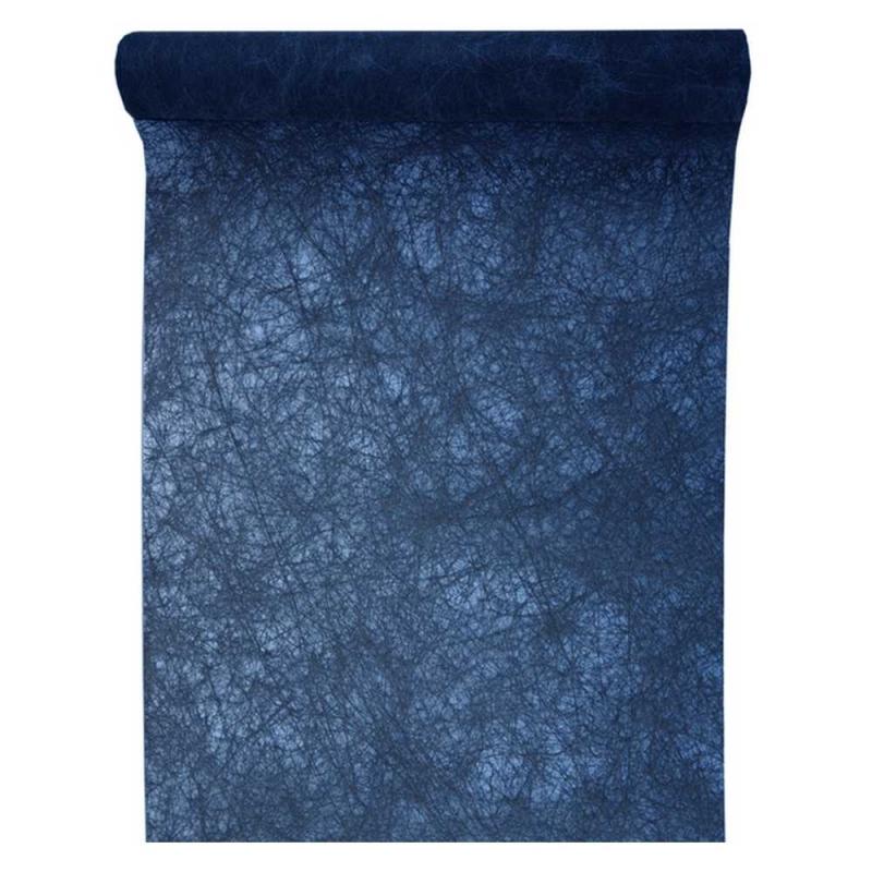 25 m tres de fanon bleu marine premium chemin de table creavea. Black Bedroom Furniture Sets. Home Design Ideas