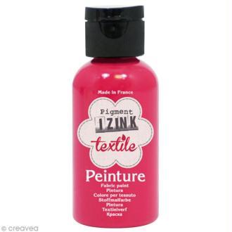 Peinture textile Izink - Rose fuchsia madras - 50 ml