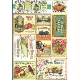 Papier de riz 22x32 cm Publicité Cuisine Découpage Collage Scrapbooking Carterie