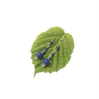 Lapis Lazuli et Malachite : BO 4,8 cm de hauteur x 8 mm de diamètre