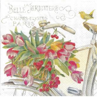 4 Serviettes en papier La Belle jardinière Tulipes Format Lunch