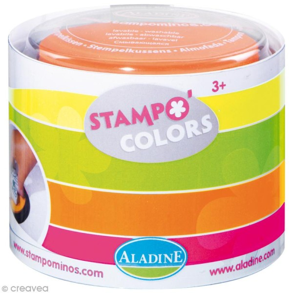 Encreur géant Stampo Colors Fluo x 4 - Encre ultra lavable - Photo n°1