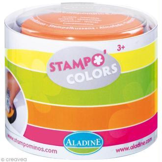 Encreur géant Stampo Colors Fluo x 4 - Encre ultra lavable