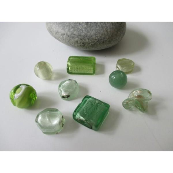 perle nacre x10 goutte turquoise vert //9