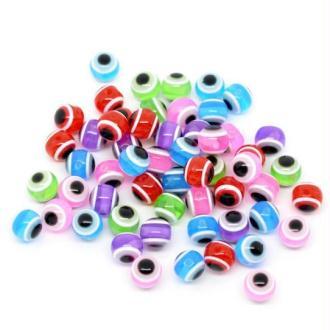 100 Perles Intercalaires Résine Ronde couleur mixte 10 mm