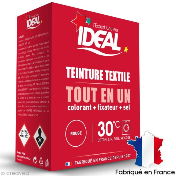 Kit complet teinture Ideal Tout en Un - Maxi Rouge - 350 gr - Photo n°1