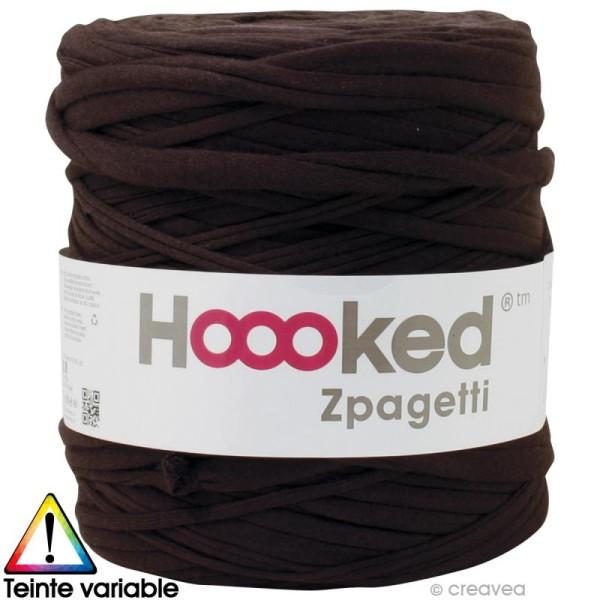 Zpagetti Hoooked DMC - Pelote Jersey Marron - 120 mètres - Photo n°1
