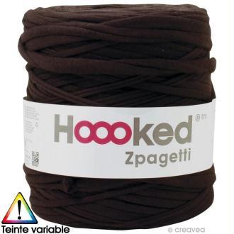Zpagetti Hoooked DMC - Pelote Jersey Marron - 120 mètres