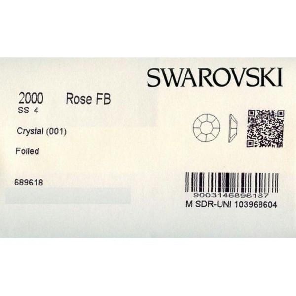 2000 SS4 C - 80 strass Swarovski fond plat NO hotfix,1,6mm CRYSTAL - Photo n°2