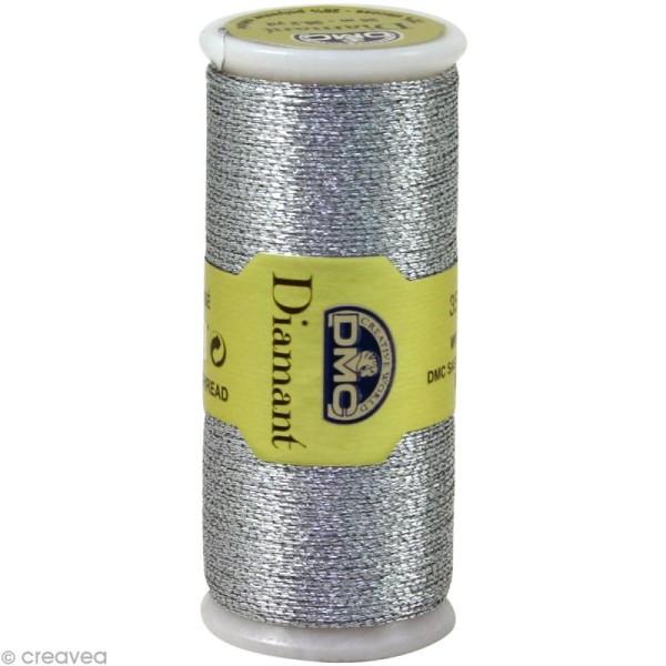 Fil à broder Diamant - Argenté métallisé D415 DMC - 35 m - Photo n°1