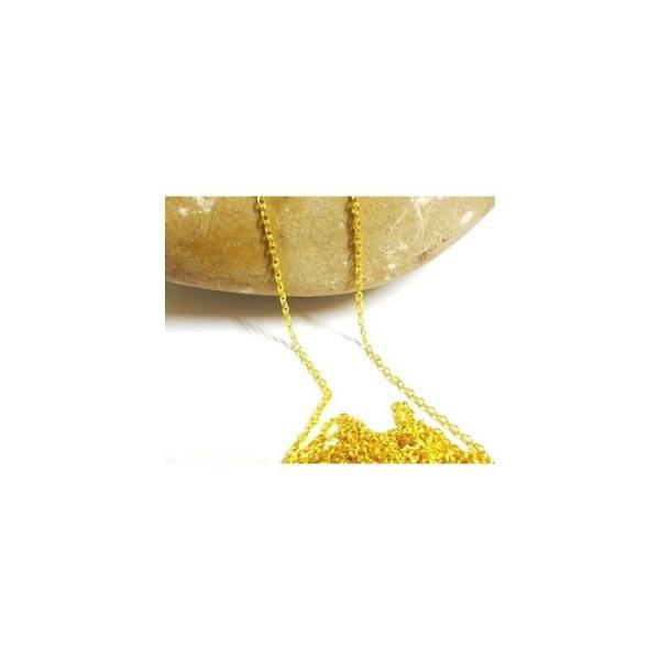 2 x 2 mm - Maille gourmette 2 m Chaîne au mètre maille fine Couleur doré