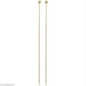 Aiguille à tricoter bambou - 2,5 mm - 1 paire