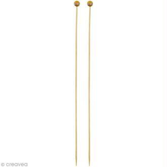 Aiguille à tricoter bambou - 3,5 mm - 1 paire