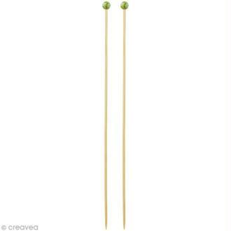 Aiguille à tricoter bambou - 4,5 mm - 1 paire