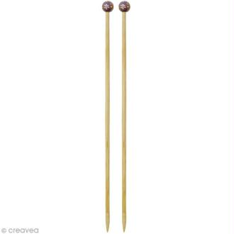 Aiguille à tricoter bambou - 8 mm - 1 paire